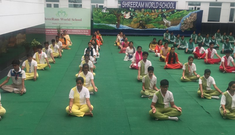 ShreeRam World School celebrates International Yoga Day